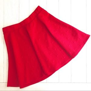 Disney Red Quilted Skater Skirt by LC